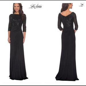La Femme Black sequined Dress 24858 Size 14